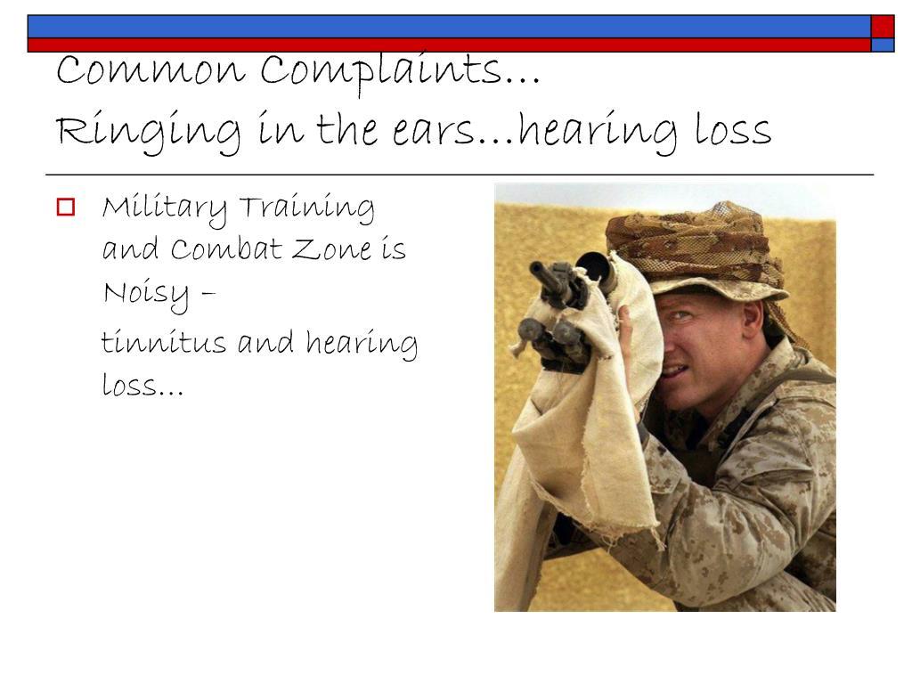 Common Complaints…