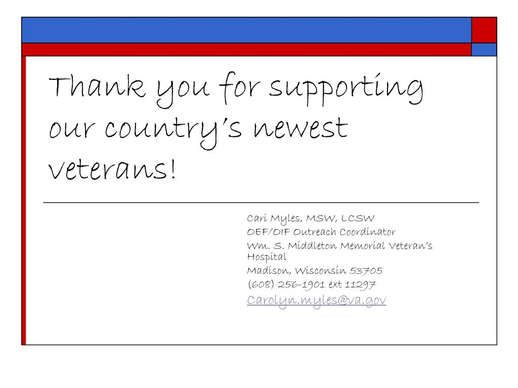 Thank you for supporting our country's newest veterans!