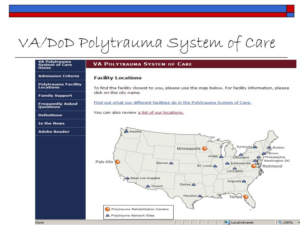 VA/DoD Polytrauma System of Care