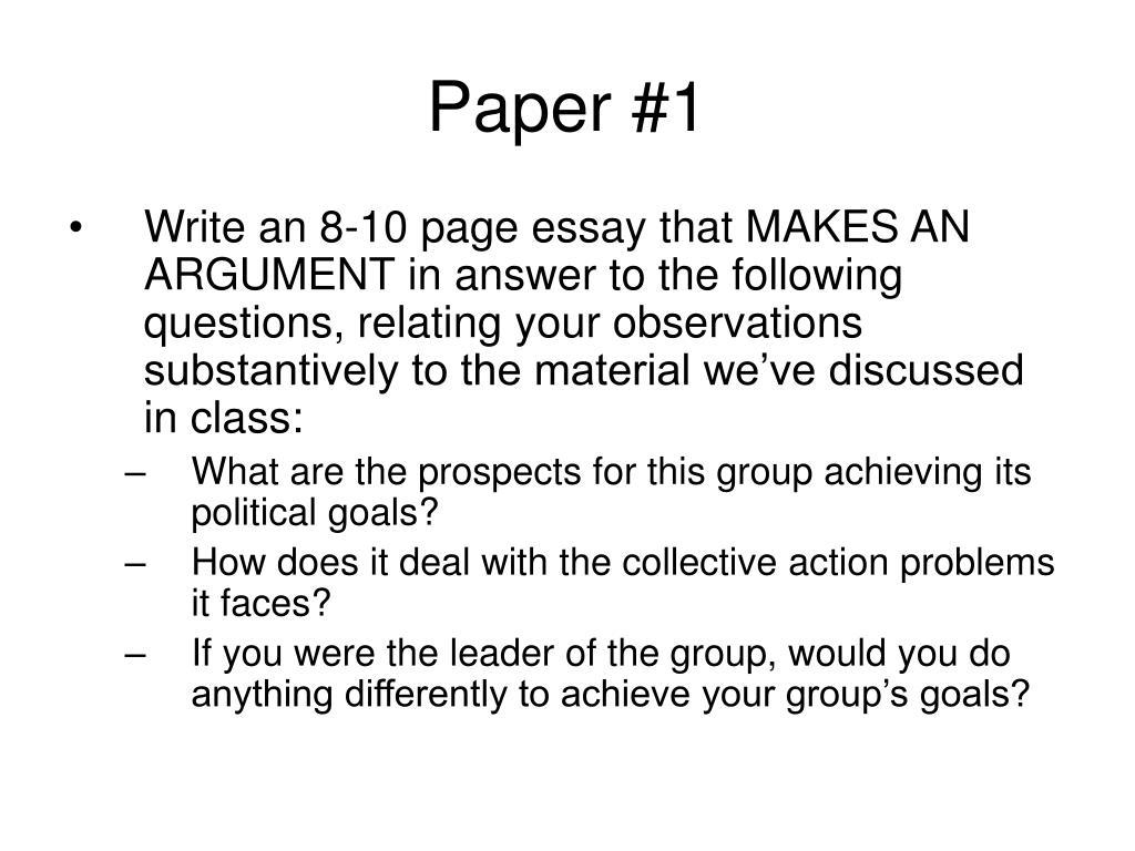 Paper #1