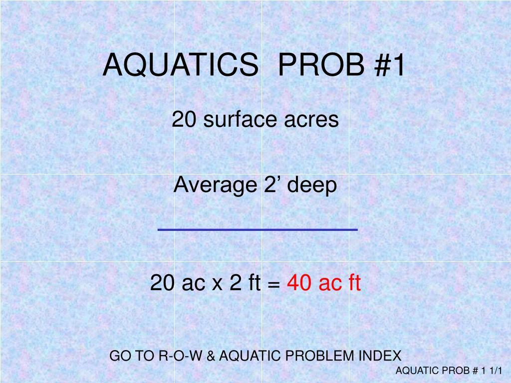 AQUATICS  PROB #1