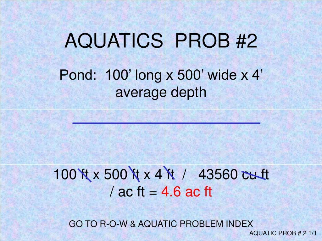 AQUATICS  PROB #2