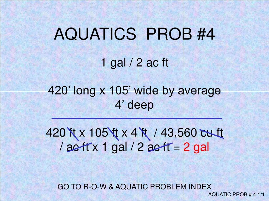 AQUATICS  PROB #4