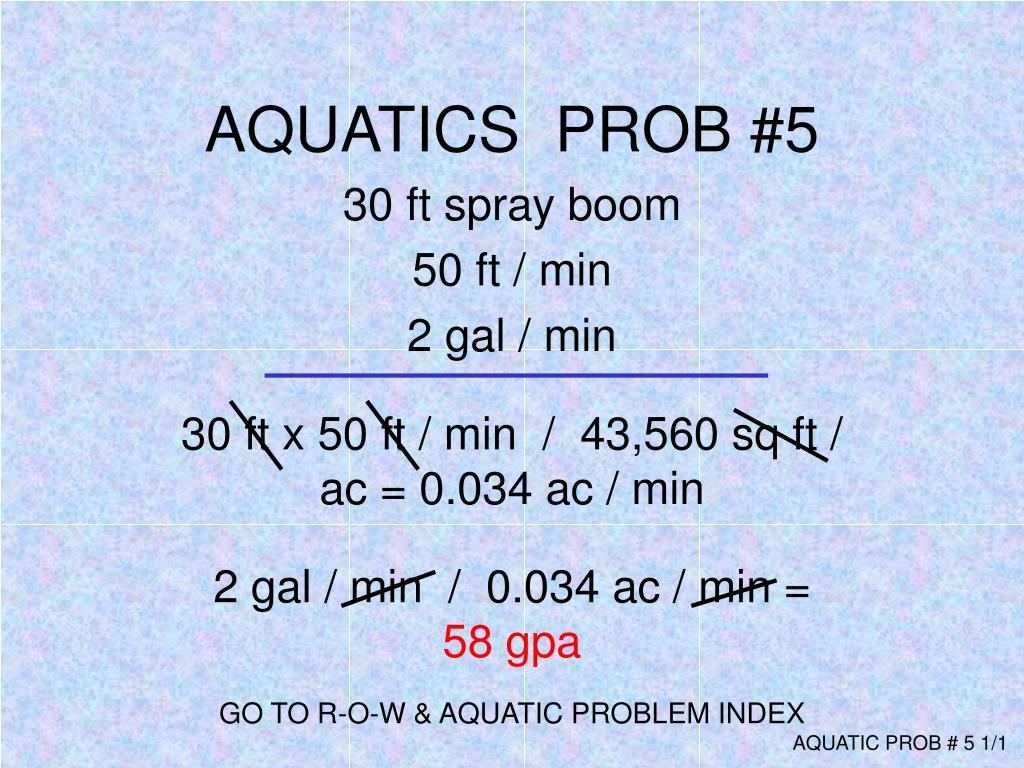 AQUATICS  PROB #5