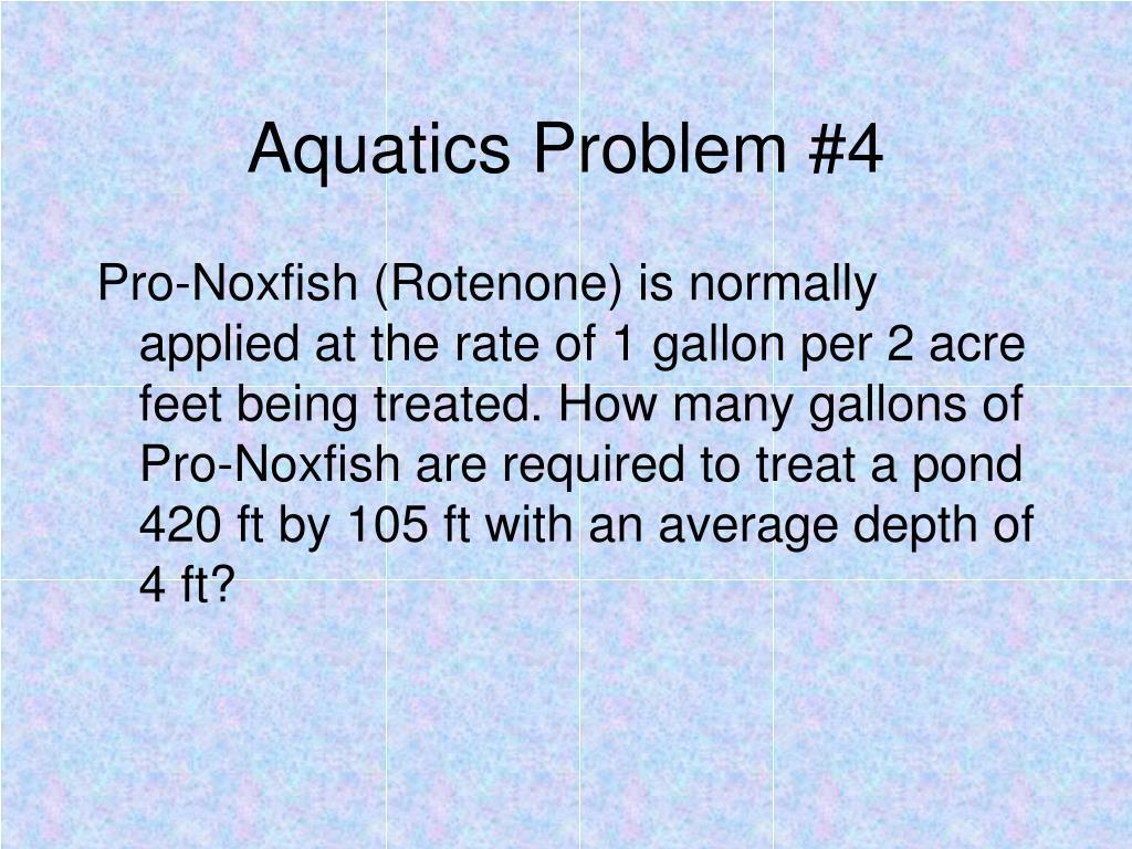 Aquatics Problem #4