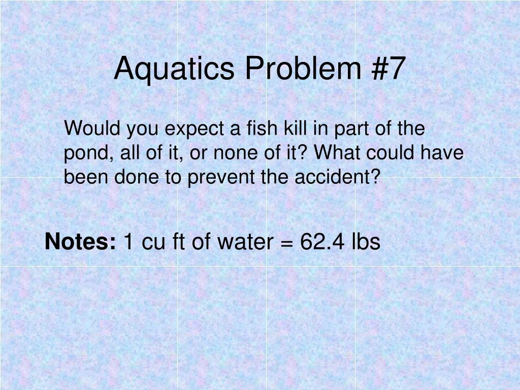 Aquatics Problem #7