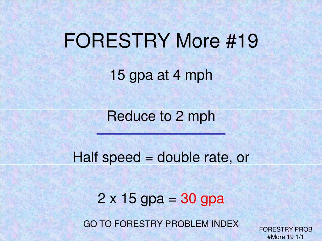 FORESTRY More #19