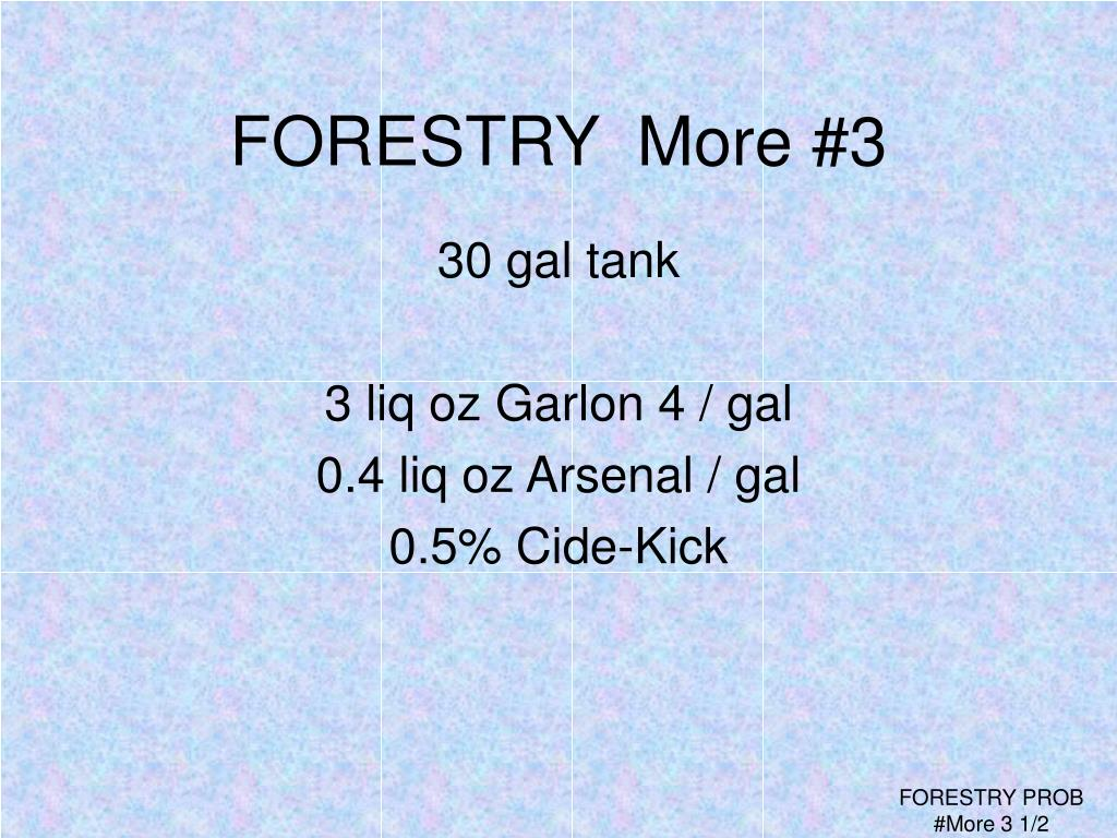 FORESTRY  More #3