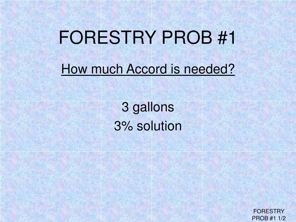 FORESTRY PROB #1