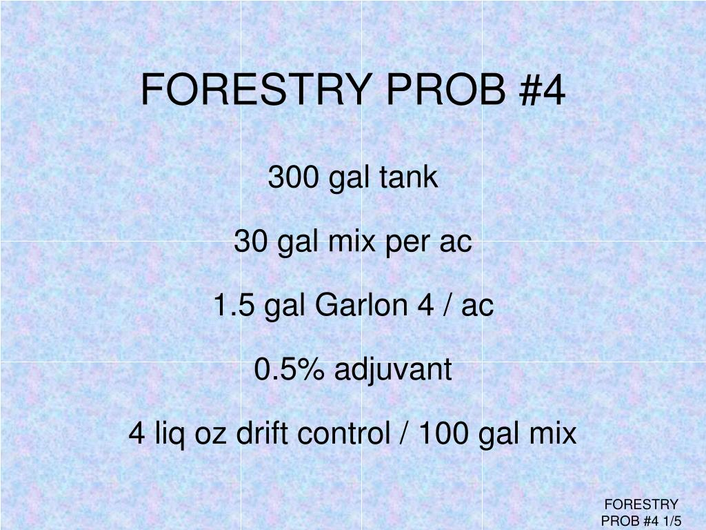 FORESTRY PROB #4