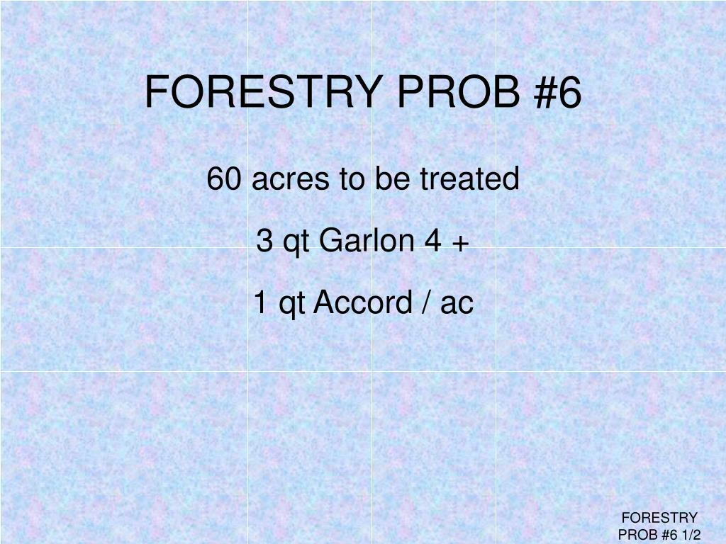 FORESTRY PROB #6