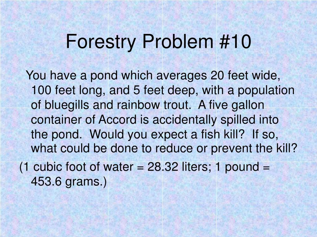 Forestry Problem #10