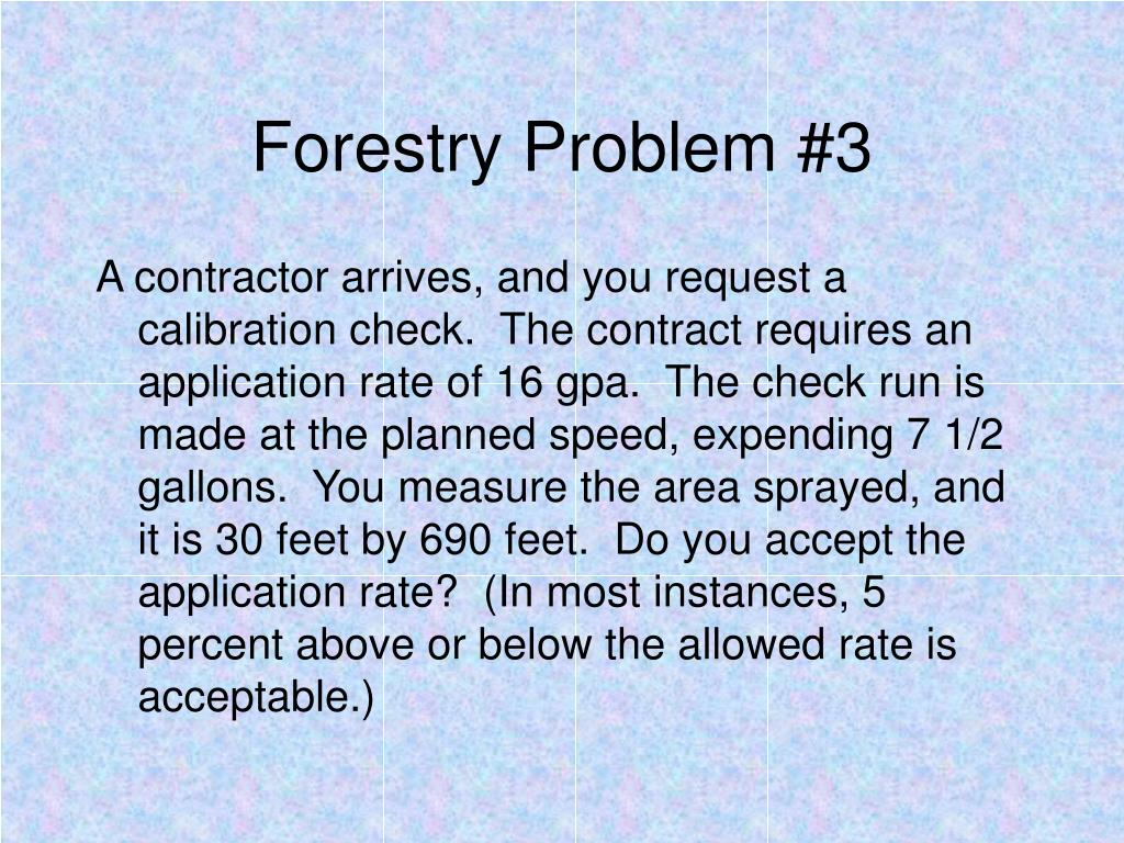 Forestry Problem #3