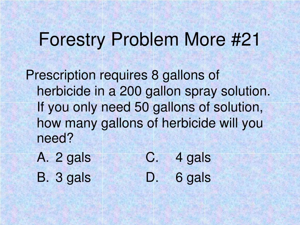 Forestry Problem More #21
