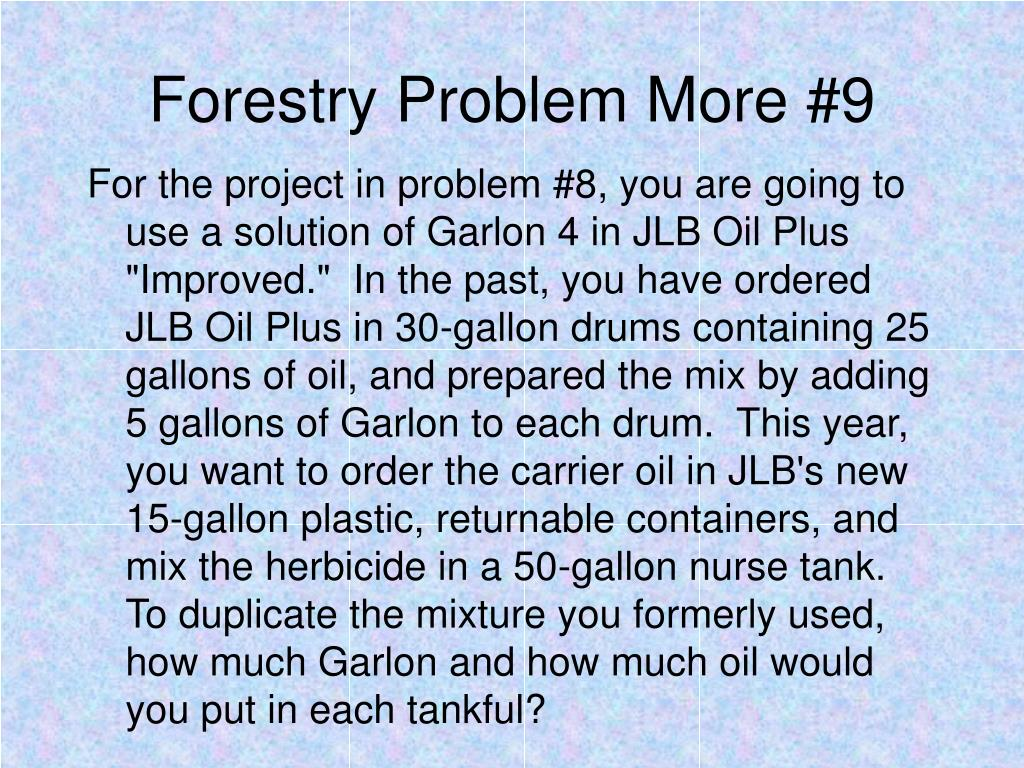 Forestry Problem More #9