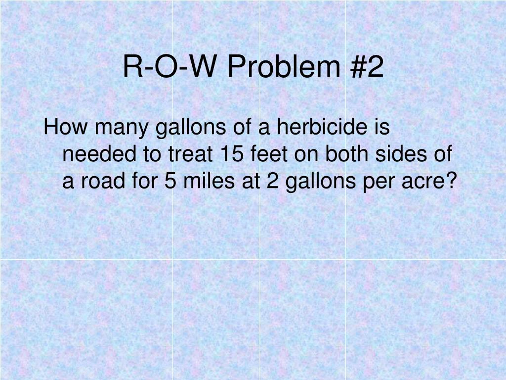 R-O-W Problem #2