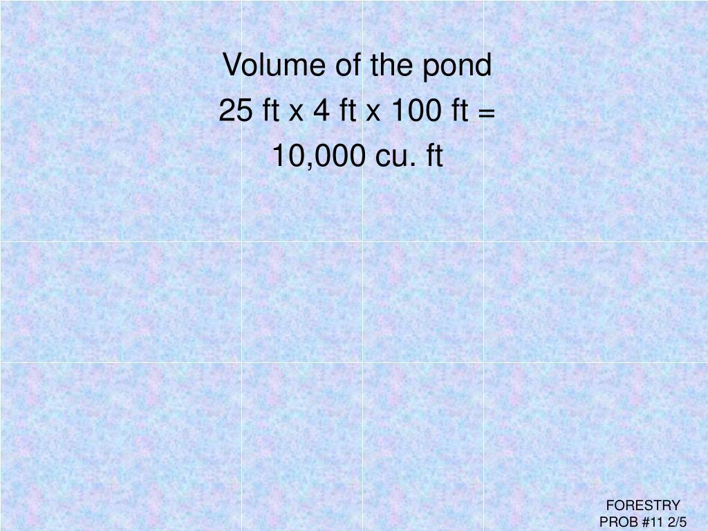 Volume of the pond