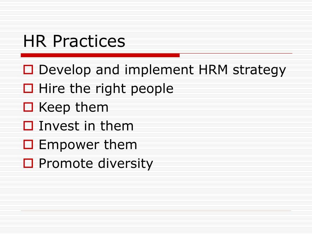 HR Practices