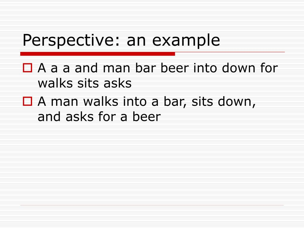 Perspective: an example