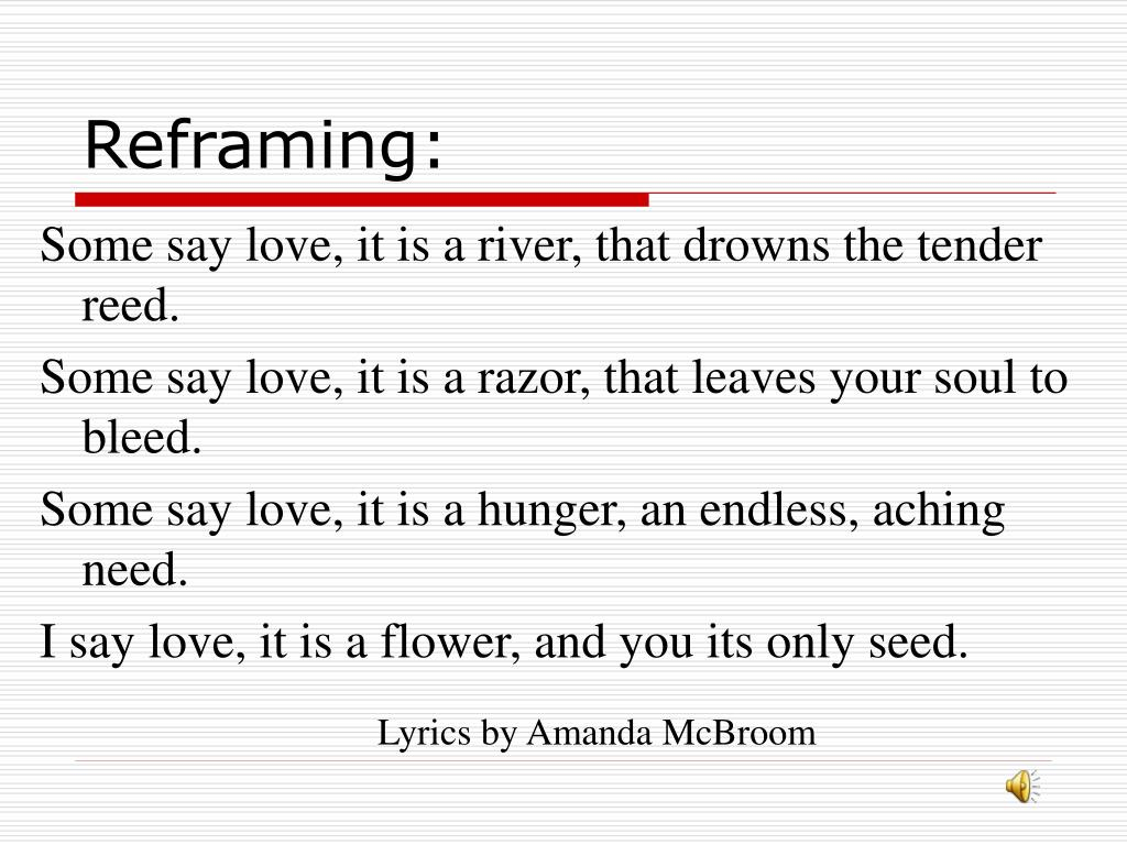 Reframing: