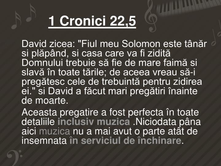 1 Cronici 22,5