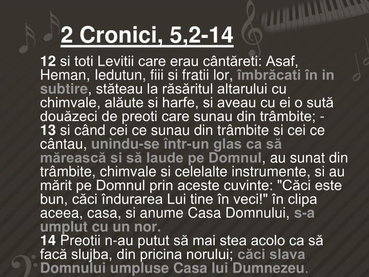 2 Cronici, 5,2-14