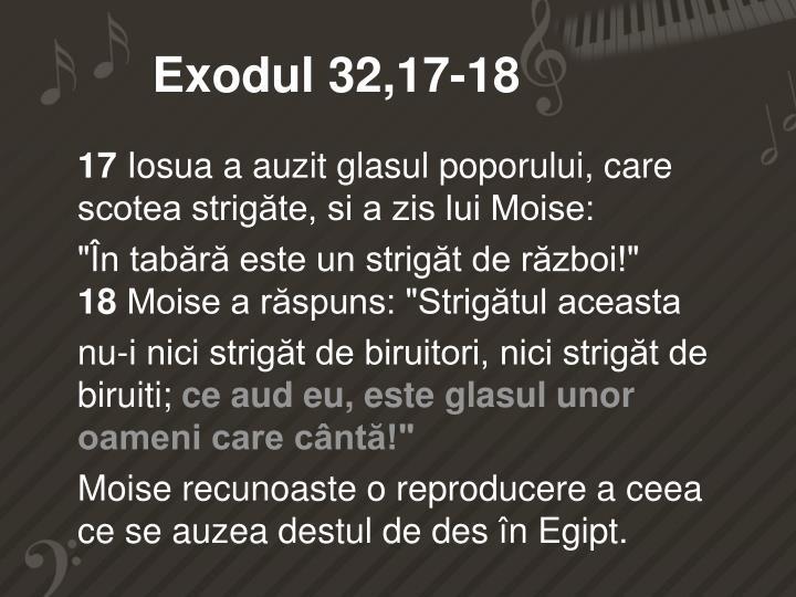 Exodul 32,17-18
