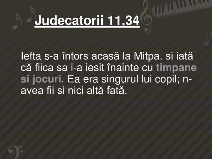 Judecatorii 11,34