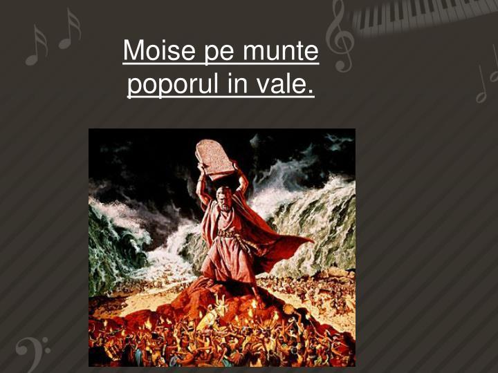 Moise pe munte