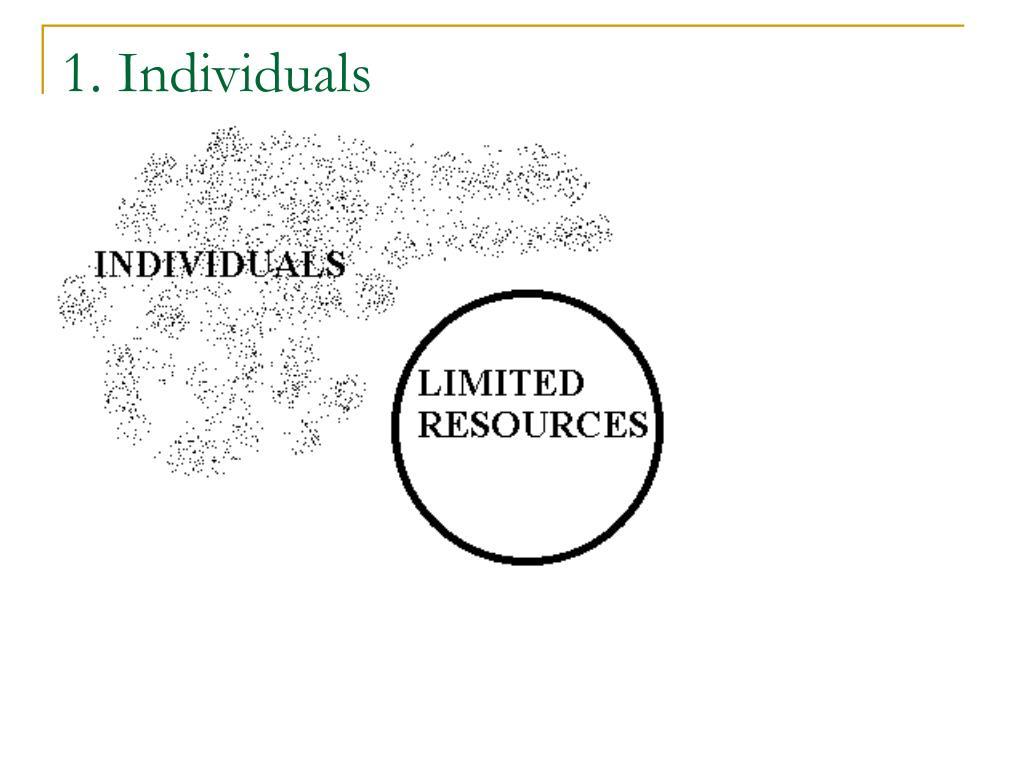 1. Individuals