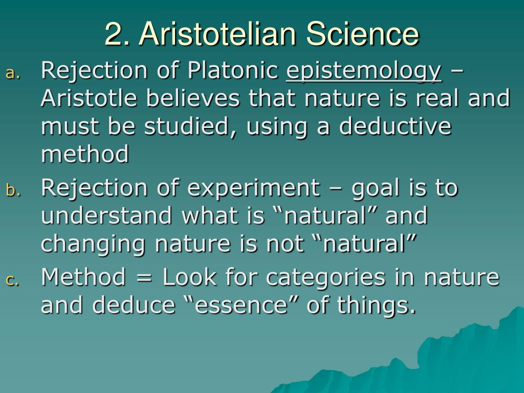 2. Aristotelian Science