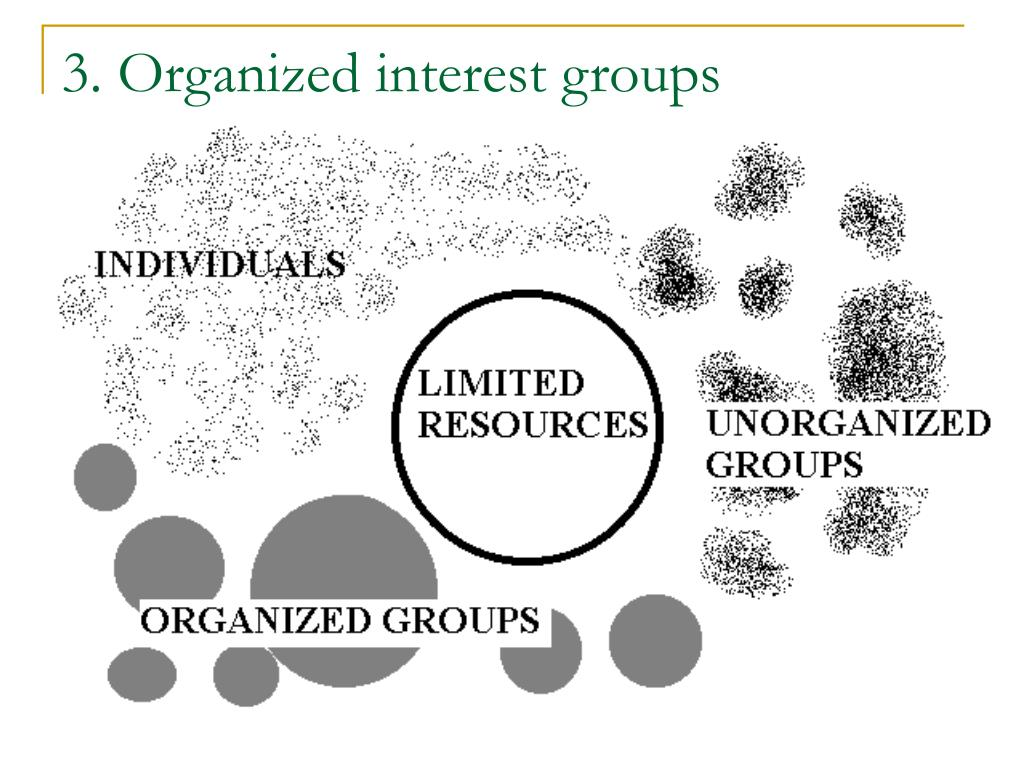 3. Organized interest groups