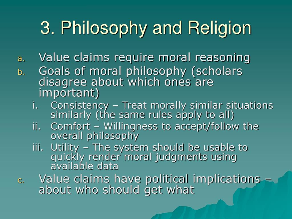 3. Philosophy and Religion