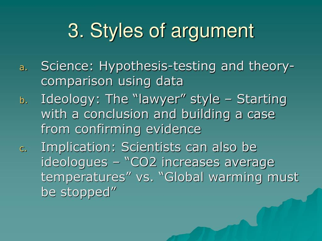 3. Styles of argument