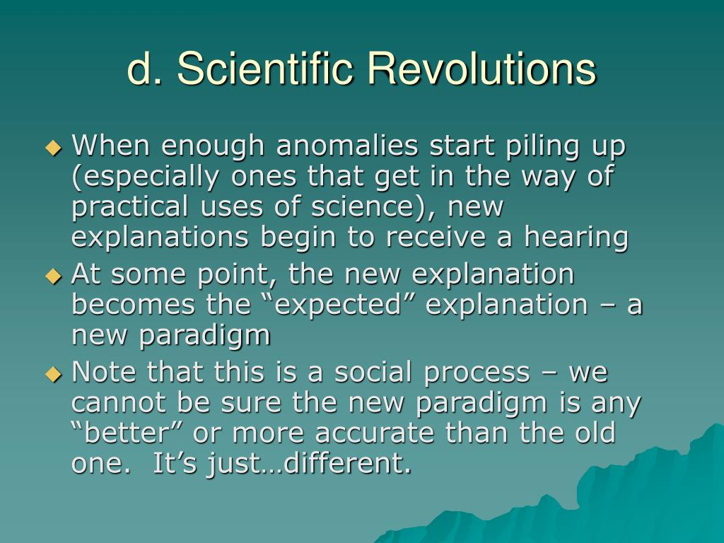 d. Scientific Revolutions