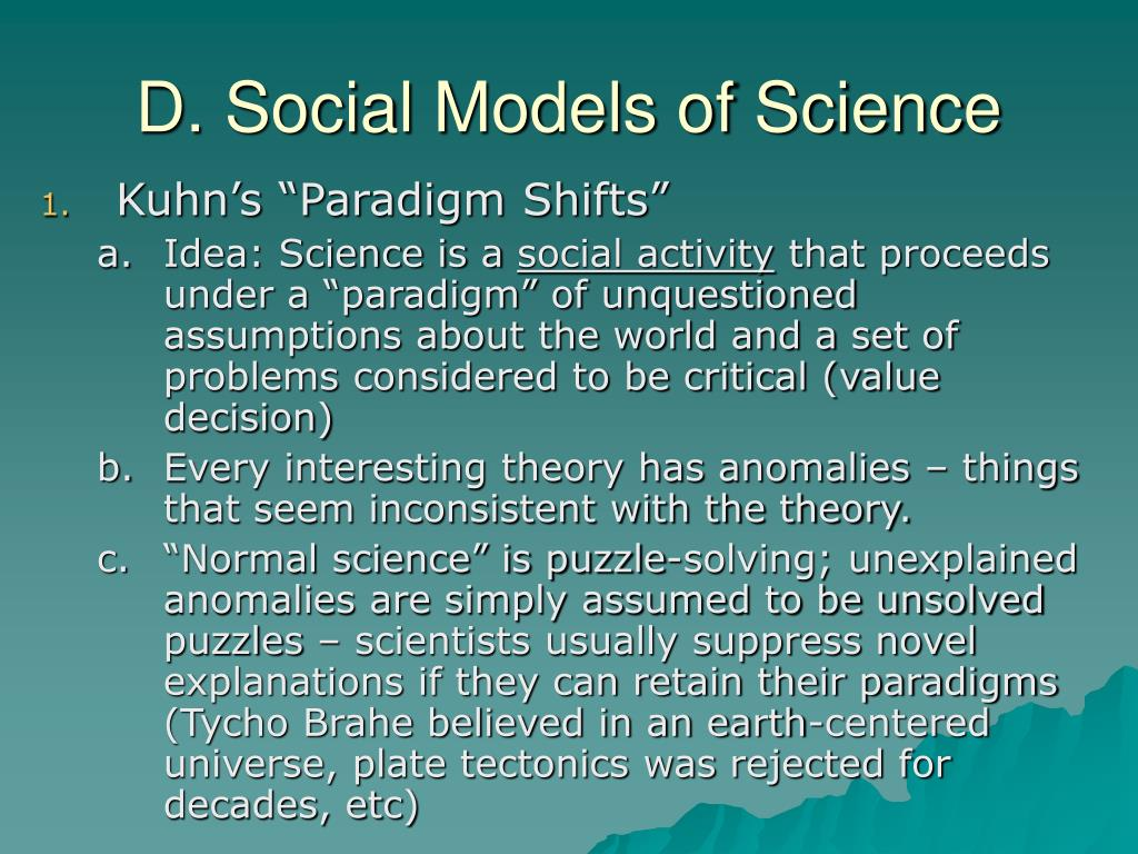 D. Social Models of Science