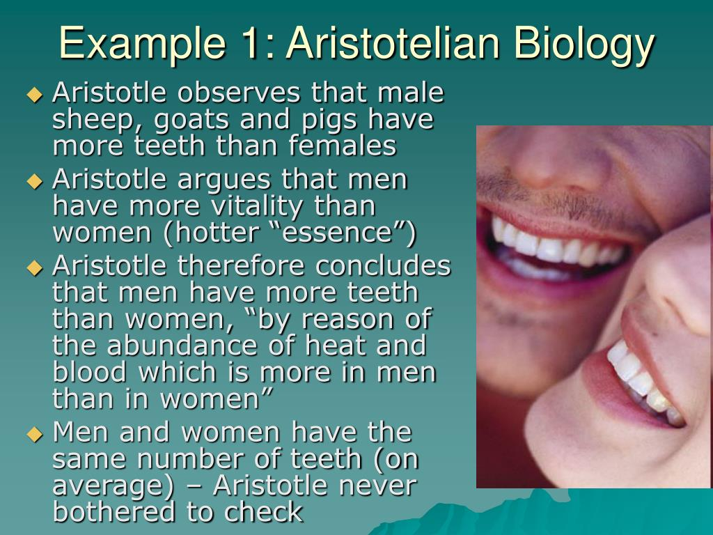 Example 1: Aristotelian Biology
