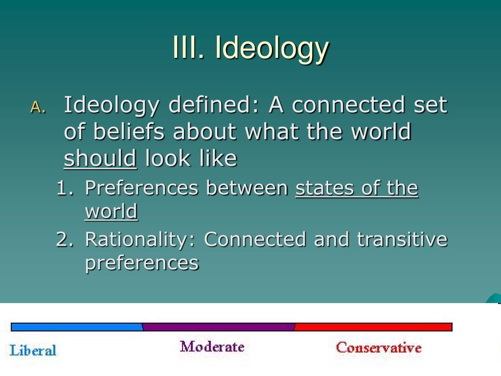 III. Ideology