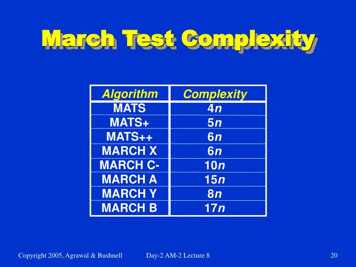 March Test Complexity