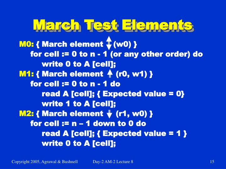 March Test Elements