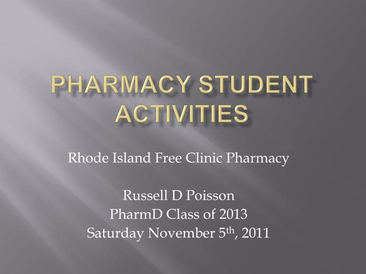 Pharmacy Student Activities