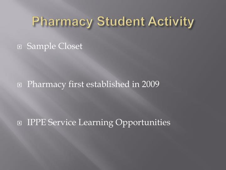 Pharmacy Student Activity
