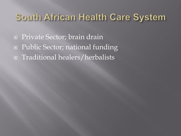 South African Health Care System