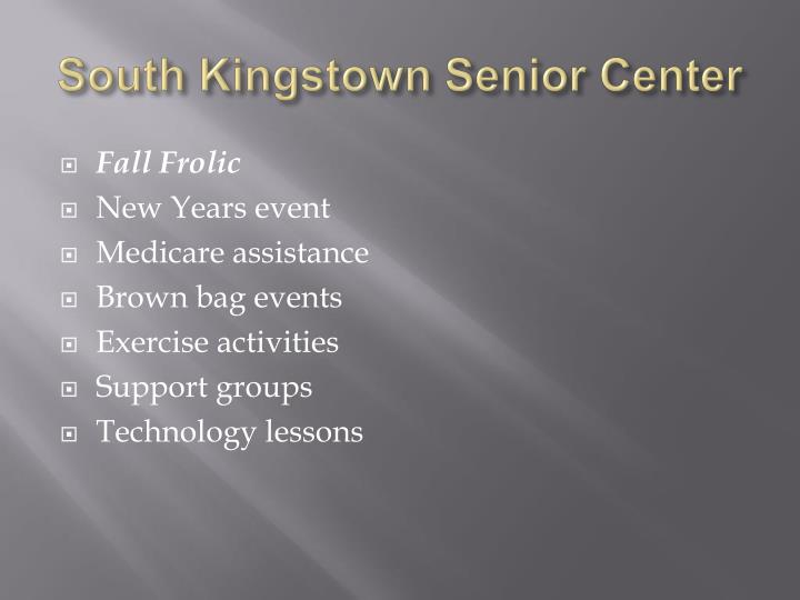 South Kingstown Senior Center