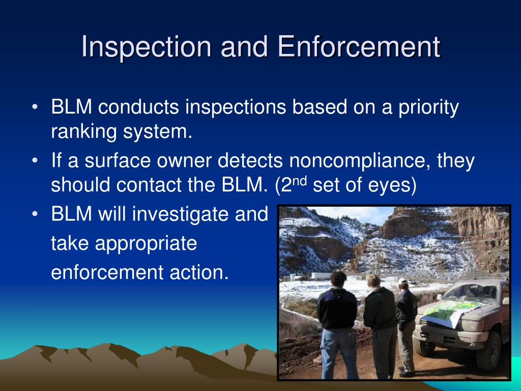 Inspection and Enforcement