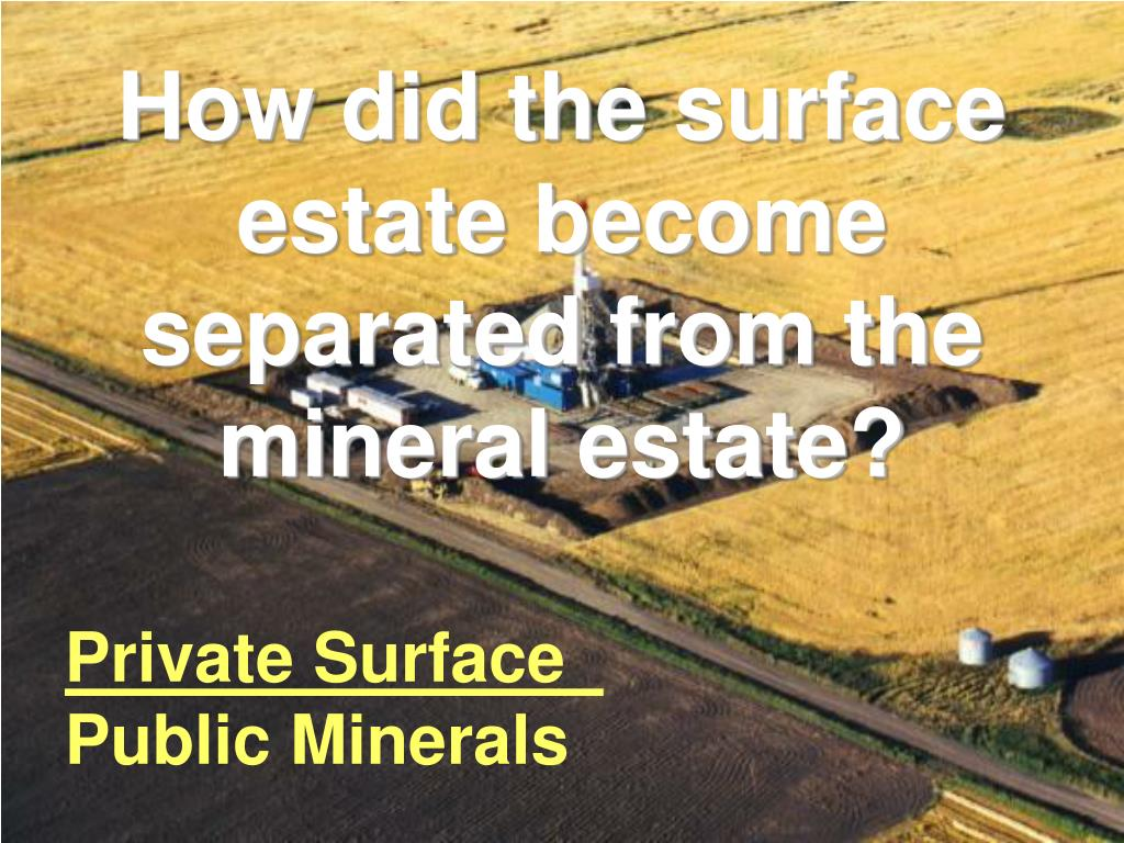 How did the surface estate become separated from the mineral estate?