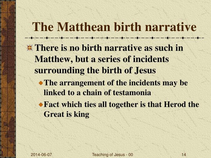 The Matthean birth narrative