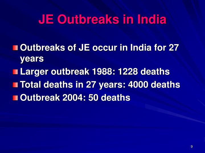 JE Outbreaks in India