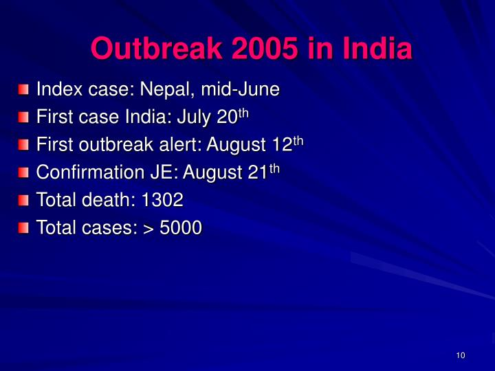 Outbreak 2005 in India