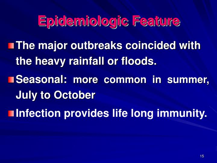 Epidemiologic Feature
